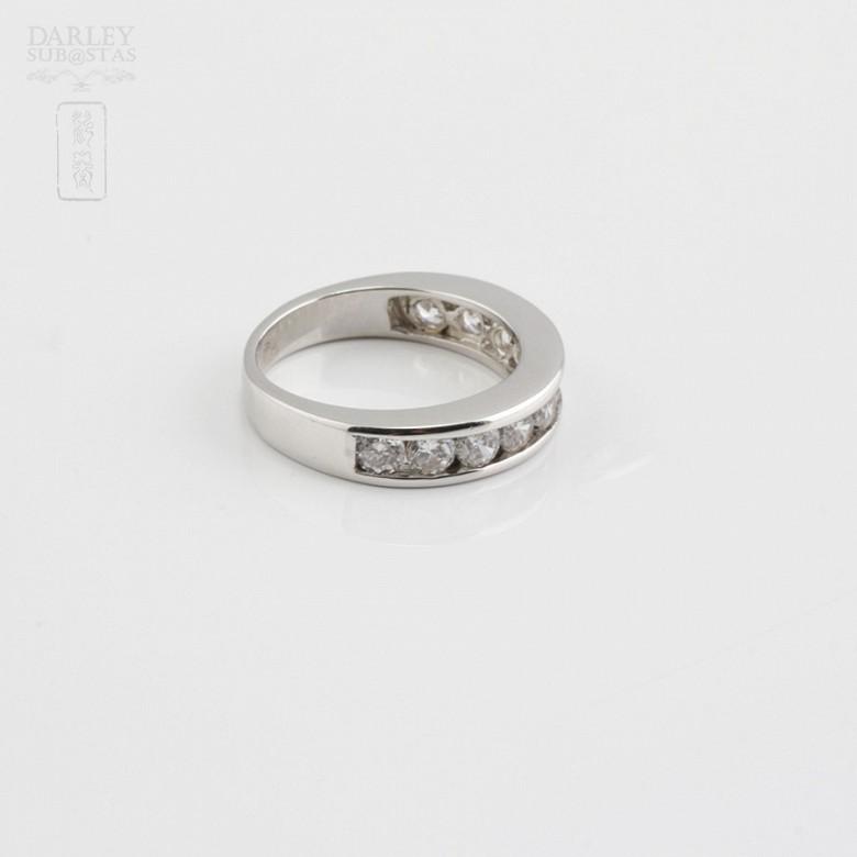 Ring in sterling silver, 925m / m, rhodium zirconia - 1