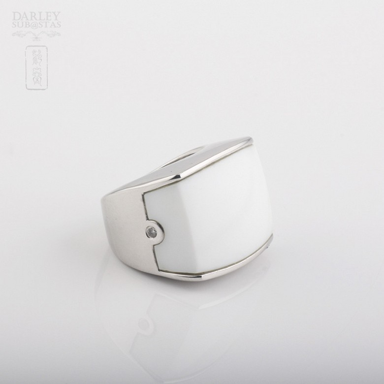 Porcelain ring in sterling silver 925m / m - 3
