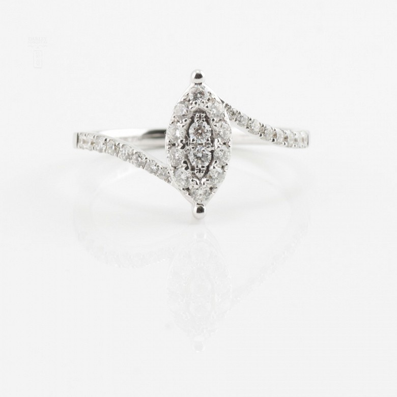 Beautiful ring white gold and diamonds 0.50cts - 4