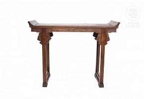 Mesa altar de madera china, s.XX