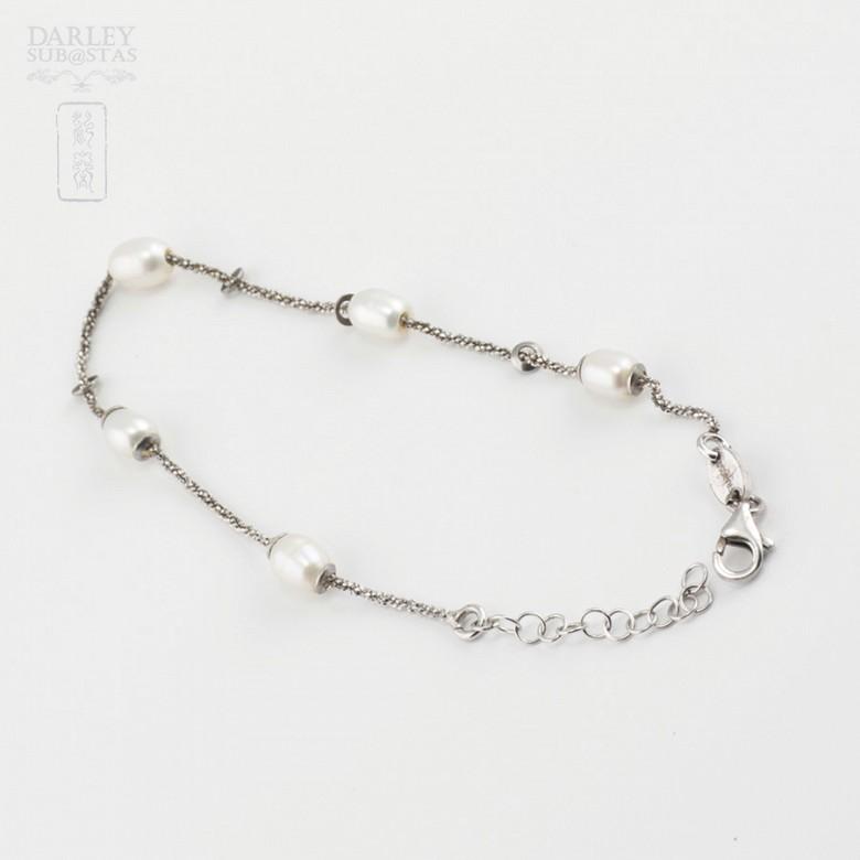 Pulsera en plata y perlas