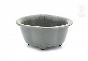 Gray glazed pottery pot, 20th century