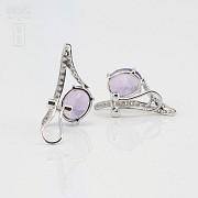 Originales pendientes amatista y diamantes - 3