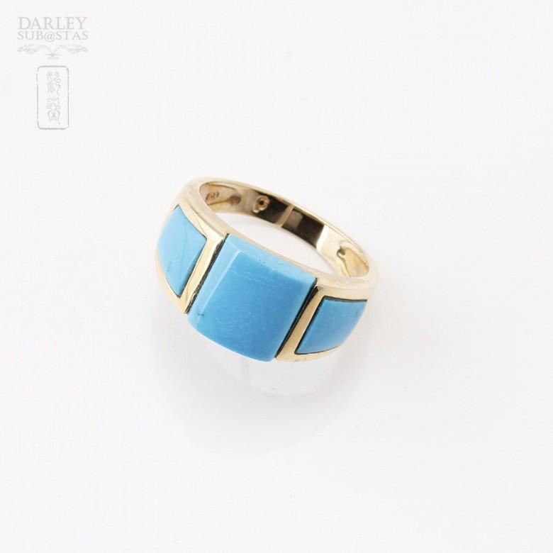 Natural Turquoise Ring 18k