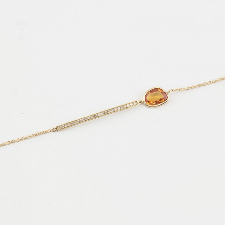 Bracelet in 18k yellow gold and diamonds - 3