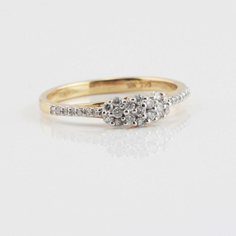Beautiful ring 18k yellow gold and diamonds 0.26cts - 3