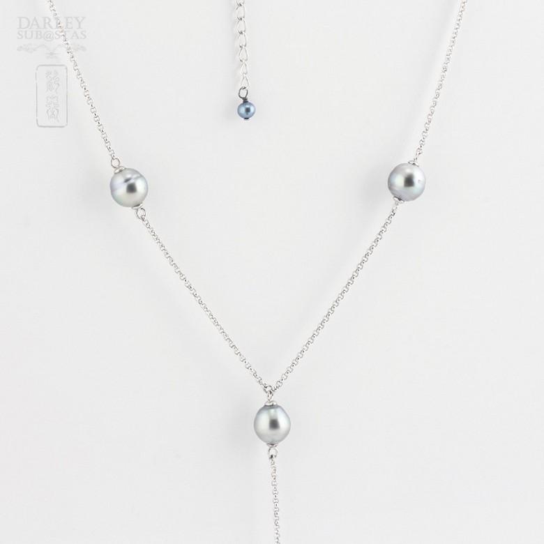 Collar con perlas Tahití en plata 925 - 2