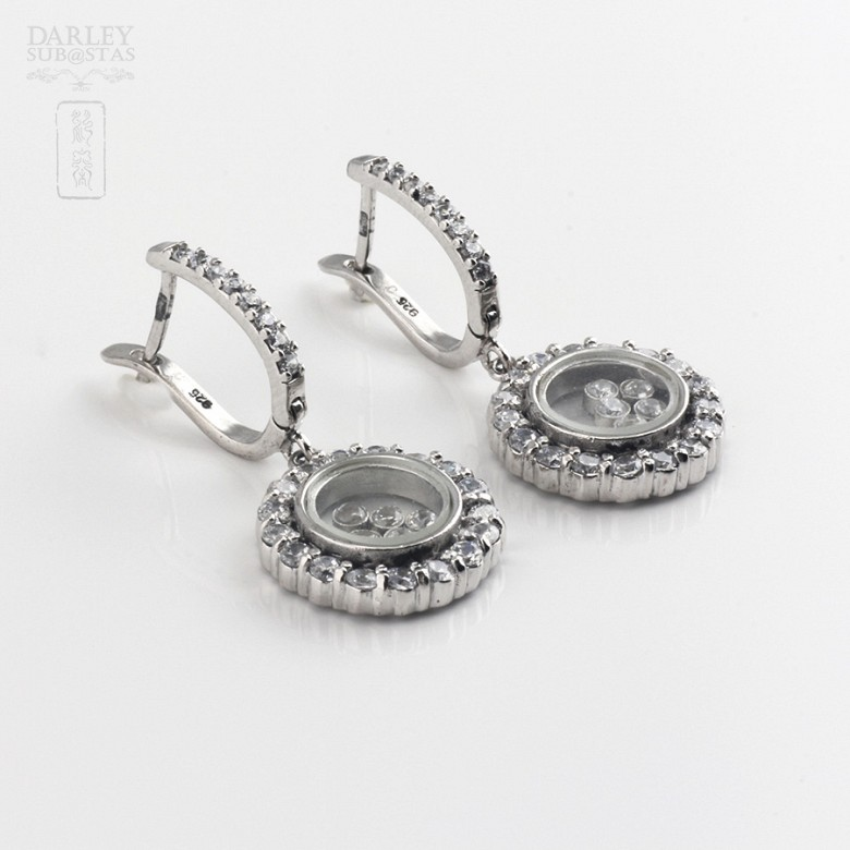 Silver earrings and cubic zirconia law - 2